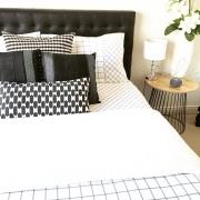 Kmart Trent Grid bed linen