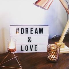 Kmart bargains - Light box & copper lamp