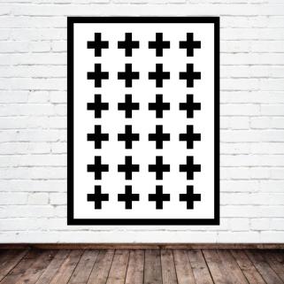 Swiss Cross Print