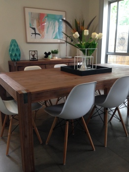 Silverwood Dining Table featuring Zola Chairs